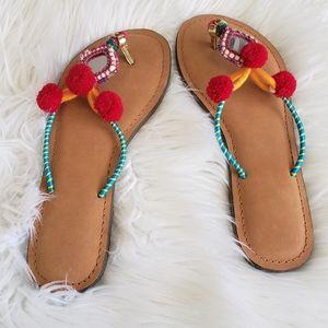 Bohemian Leather Flip Flops